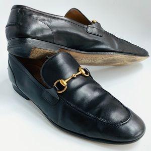 men's Gucci shoes Jordaan Black Horsebit size 10.5